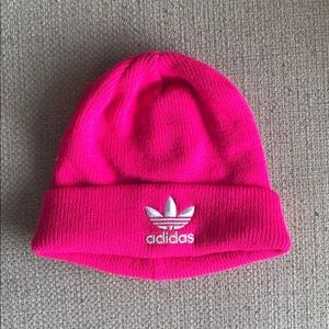 Adidas neon pink beanie 💕